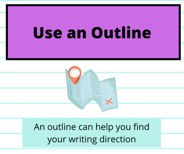 "a clipart of a map with the words ""an outline can help you find the right direction"